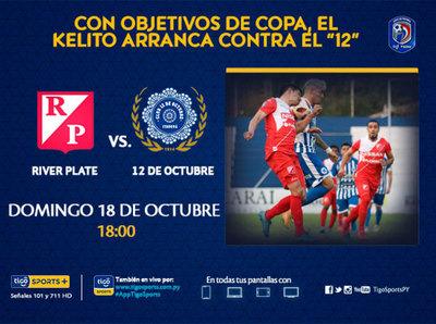 River Plate y 12 de Octubre hacen su debut en el Clausura