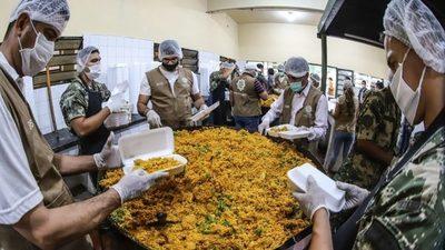 Asistieron con 280 mil platos a familias vulnerables