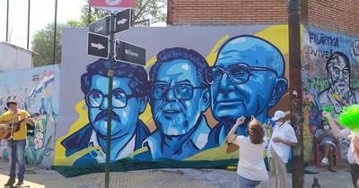 La Nación / Pa'i Oliva recibe mural en homenaje a su vida y labor por desfavorecidos