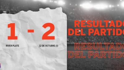 A 12 de Octubre (I) le alcanzó con un gol para vencer por 2 a 1 a River Plate