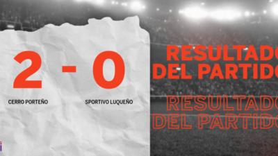 En su casa, Cerro Porteño venció a Sportivo Luqueño por 2 a 0