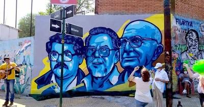 La Nación / Pa'i Oliva recibe mural en homenaje a su vida