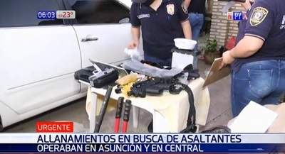 Policía desbarata banda de asaltantes