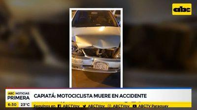 Motociclista muere en accidente en Capiatá