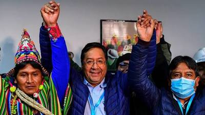 Socialismo recupera poder en Bolivia