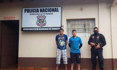Dos prófugos de la Justicia caen detenidos con drogas – Diario TNPRESS