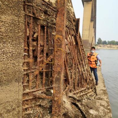 Pedestal averiado del Puente Remanso será reparado