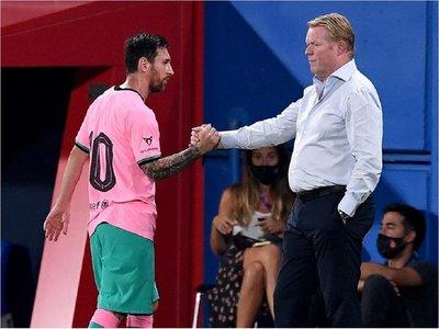 """Koeman no tiene """"ninguna queja"""" sobre el rendimiento de Messi"""