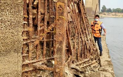 Ministro de Obras anunció reparación a la estructura del Puente Remanso