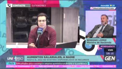 HOY / Benigno López, ministro de Hacienda: Aumento salariales, a nadie