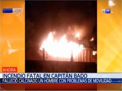 Capitán Bado: Incendio de una vivienda deja un fallecido