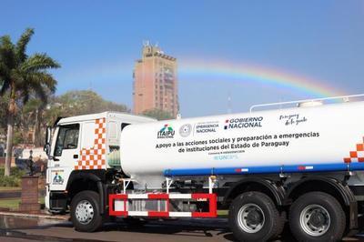 SEN recibe 5 camiones hidrantes que fortalecerán su capacidad de respuesta ante situaciones de emergencia