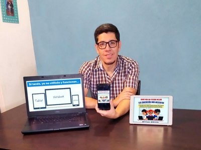 Instan a donar celulares y notebooks para alumnos de escasos recursos