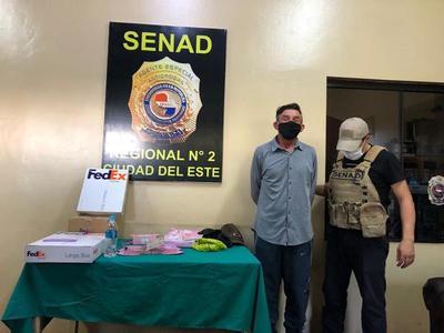 SENAD capturó a brasileño que enviaba cocaína mediante encomiendas aéreas