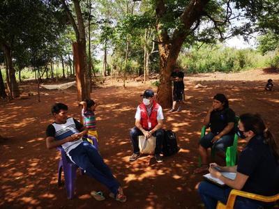 Nueva Toledo: El MINNA protegió a niñas del pueblo Mbya Guaraní del departamento de Caaguazú