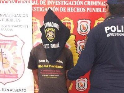 Capturan en Canindeyú a sospechoso del crimen de un septuagenario