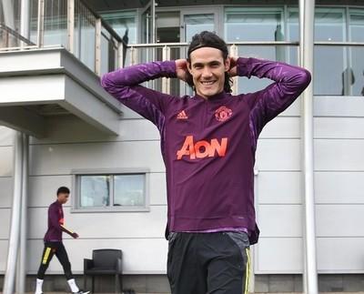 Edinson Cavani, integrado en el Manchester United