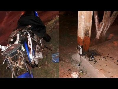 MOTOCICLISTA FALLECIÓ TRAS IMPACTAR CONTRA UNA COLUMNA EN TOMÁS ROMERO PEREIRA