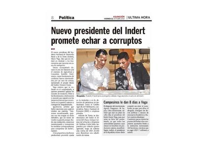 Corrupción en el Indert: Caen por coima el presidente y funcionarios