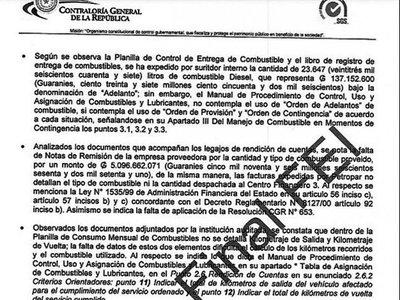 CGR halla irregularidades por uso de combustible en Defensa