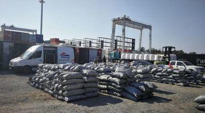 Cae importante carga de cocaína en Villeta: droga iba oculta entre bolsas de carbón
