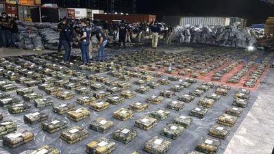 Histórica incautación de cocaína: unos 2 mil 500 kilos en un contenedor, de 6 requisados