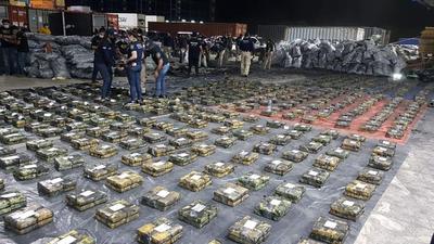 Histórica incautación de cocaína: unos 2.500 kg en un contenedor, de 6 requisados