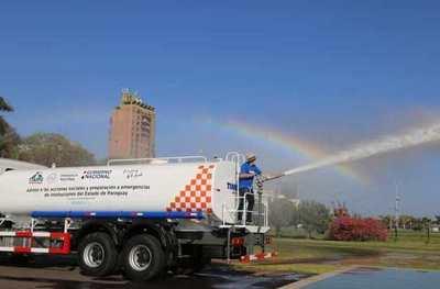 Entregan 5 camiones hidrantes a la SEN