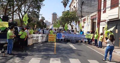 Movilizaciones docentes en reclamo de reposición en cargo y mayor presupuesto para MEC