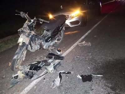MOTOCICLISTA LESIONADO Y ABANDONADO EN ACCIDENTE SOBRE RUTA EPIFANIO MENDEZ