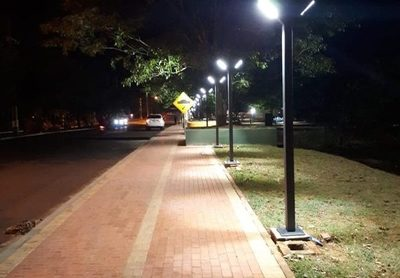 Realizan pruebas de iluminación del parque Independencia en Franco – Diario TNPRESS