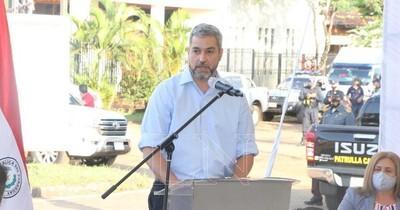 La Nación / Abdo reapareció en Alto Paraná tras siete meses de pandemia a inaugurar obras