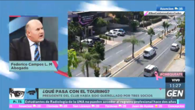 HOY / ¿Qué pasa en el Touring?, al respecto habló el abogado Federico Campos López Moreira