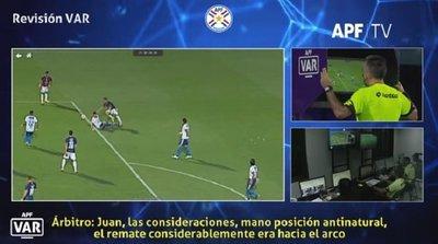 Esto dijo el VAR en la polémica jugada de Cerro-Luqueño
