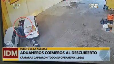 "Cámaras captan modus operandi de aduaneros ""coimeros"""