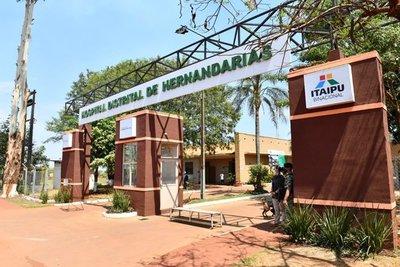 Mario Abdo inaugura obras de ampliación del Hospital Distrital de Hernandarias