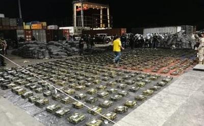 Valor de cocaína incautada es de U$S 500 millones