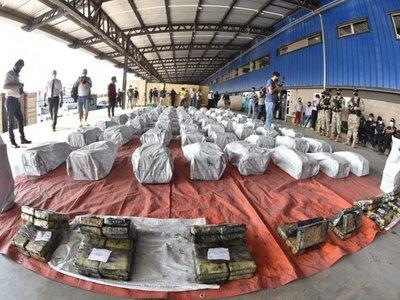 Suman hasta el momento 2.331 kilos de cocaína incautada en Villeta