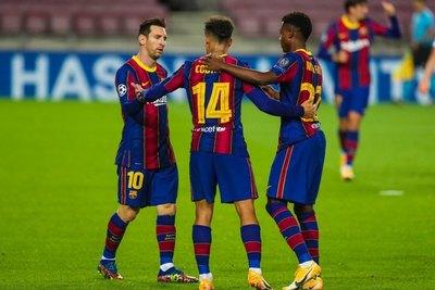 Barcelona cumplió con la lógica y goleó en su estreno en Champions