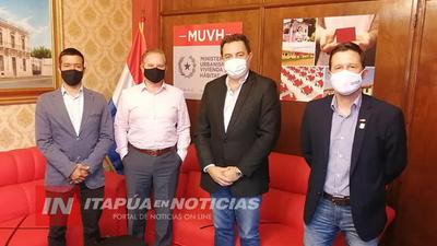 VISITA AL MINISTERIO DE VIVIENDA, PROYECTAN 400 VIVIENDAS A CONSTRUIR EN ENCARNACIÓN