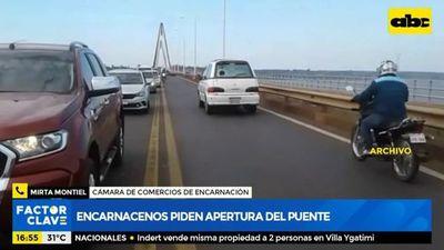 Encarnacenos piden apertura del puente para reactivar economía