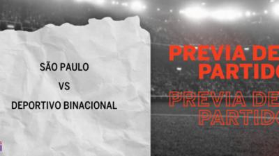 São Paulo recibirá  a Deportivo Binacional por la Grupo D – Fecha 6