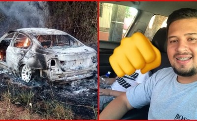 Denuncian desaparición de un joven y encuentran su vehículo incinerado