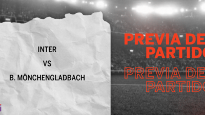 Por la Grupo B – Fecha 1 se enfrentarán Inter y B. Mönchengladbach