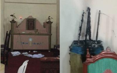 Queman imágenes sagradas en la parroquia de San José de los Arroyos