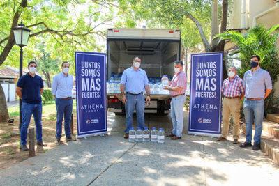 Athena donó 20 mil litros de agua potable para asistir a la comunidad de General Bruguez
