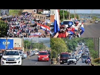 EL SUR DEL PAIS SE MOVILIZÓ EN CARAVANA PIDIENDO LA REACTIVACIÓN ECONÓMICA