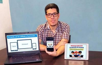 Campaña busca colectar celulares y notebooks para estudiantes de escasos recursos