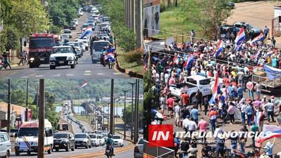 ITAPÚA DEMOSTRÓ SU FUERZA CON MULTITUDINARIA CARAVANA