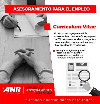Dirección del Empleo de la ANR ofrece asesoramiento gratuito para interesados